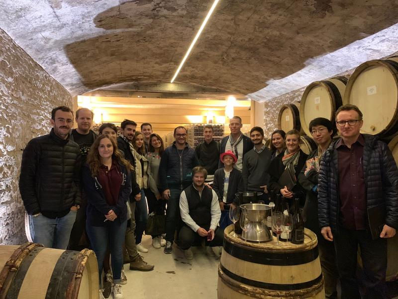 OIV MSc Students came to visit Domaine Aegerter